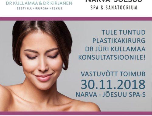 Dr Jüri Kullamaa teeb Narva- Jõesuu SPA-s konsultatsioone 30.11.2018